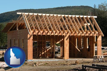 building a two-car garage - with Idaho icon